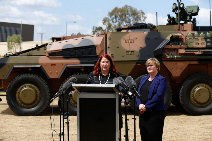 Australian Defence Force Takes Delivery of the First of the New Fleet of Boxer Armoured  Vehicles